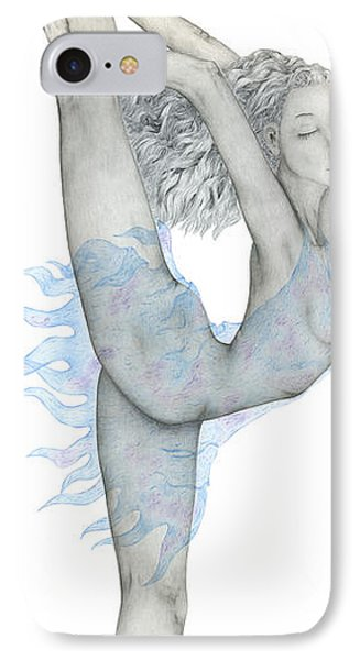 IPhone Case featuring the drawing Swan. by Kenneth Clarke