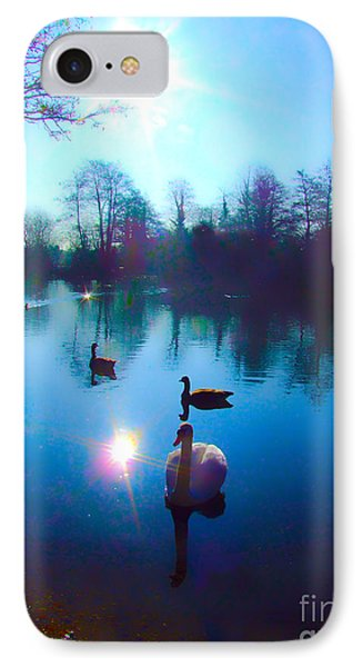 Swan Lake IPhone Case by Andrew Middleton