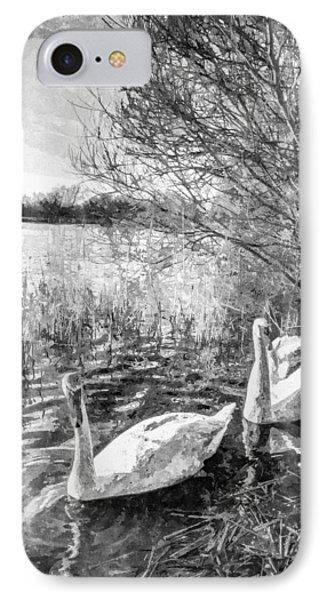 Swan Lake Art IPhone Case by David Pyatt