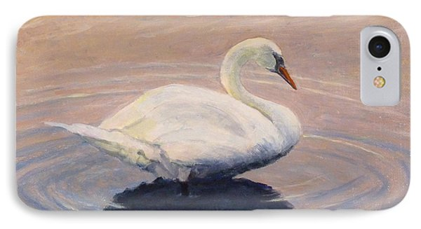 IPhone Case featuring the painting Swan Lake by Joe Bergholm