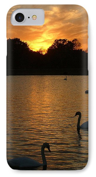 Swan Lake IPhone Case by John Topman