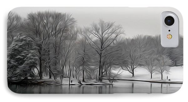 IPhone Case featuring the digital art Swan Lake by Kelvin Booker