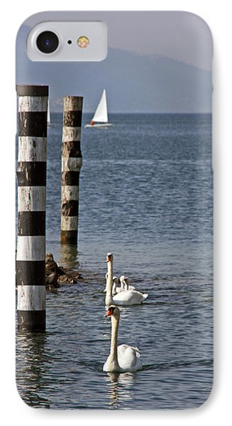 IPhone Case featuring the photograph Swan Lake by Leena Pekkalainen