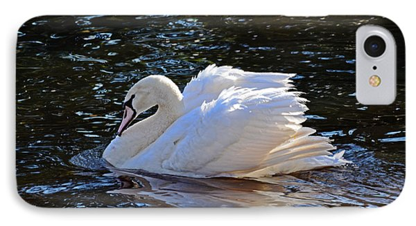 IPhone Case featuring the photograph Swan by Linda Brown