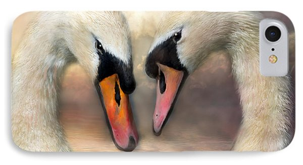 Swan Love IPhone Case by Carol Cavalaris