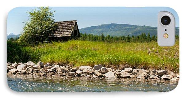 Swan River Cabin IPhone Case