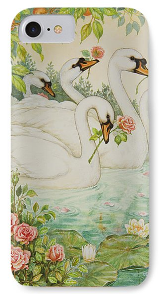 Swan Romance Phone Case by Lynn Bywaters