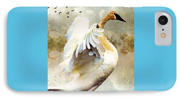 Swan Sense IPhone Case by Kathy Bassett