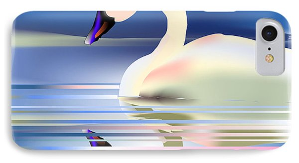 IPhone Case featuring the digital art Swan Song by Arline Wagner