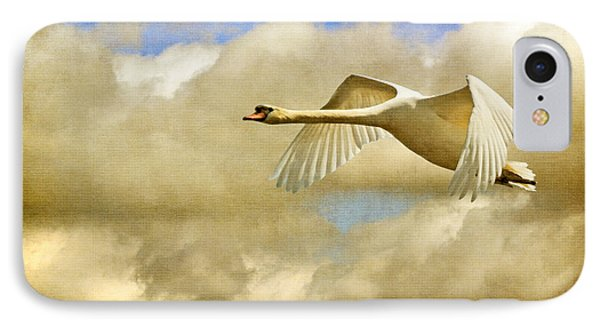 Swan Song Phone Case by Lois Bryan