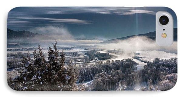 Swan Valley Winter IPhone Case by Leland D Howard