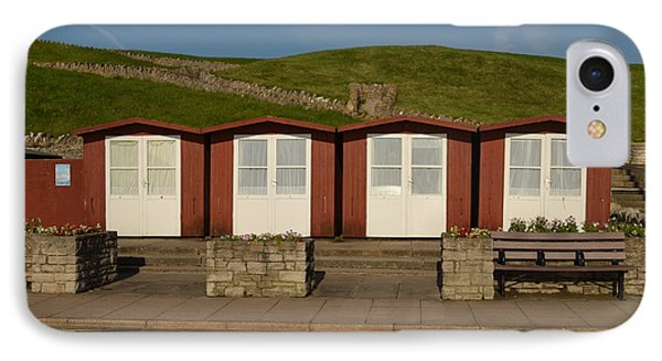 Swanage Beach Huts IPhone Case by Linsey Williams
