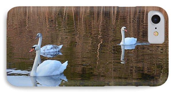 Swans 2 IPhone Case