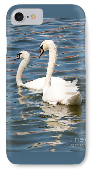 Swans And Swirls Phone Case by Carol Groenen