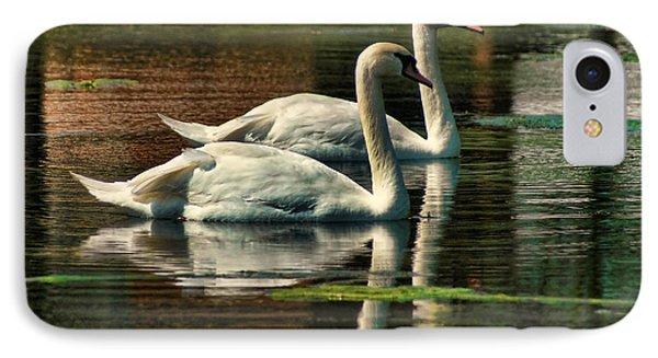 Swans Cruising IPhone Case by Rick Friedle