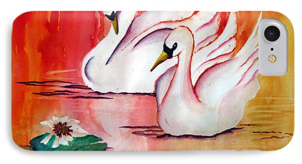 Swans In Love IPhone Case by Lil Taylor