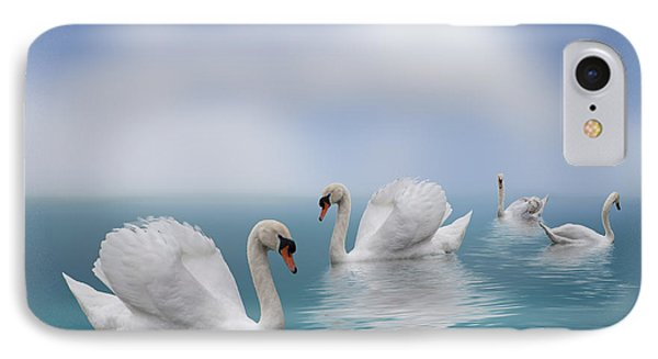 Swans In Paradise IPhone Case by Shirley Mangini