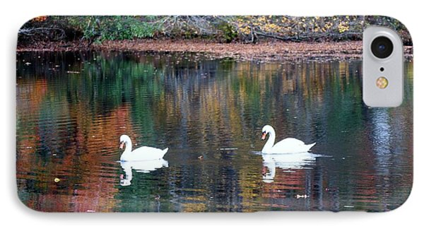 IPhone Case featuring the photograph Swans by Karen Silvestri