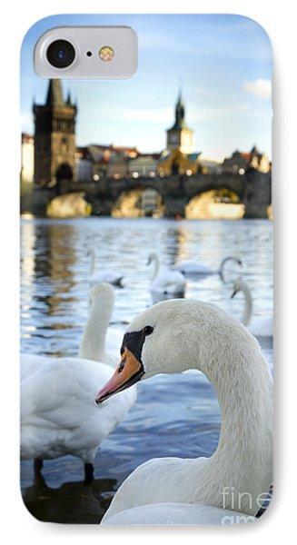 Swans On Vltava River Phone Case by Jelena Jovanovic
