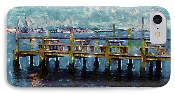Swansboro Dock 1 IPhone Case by Lanjee Chee