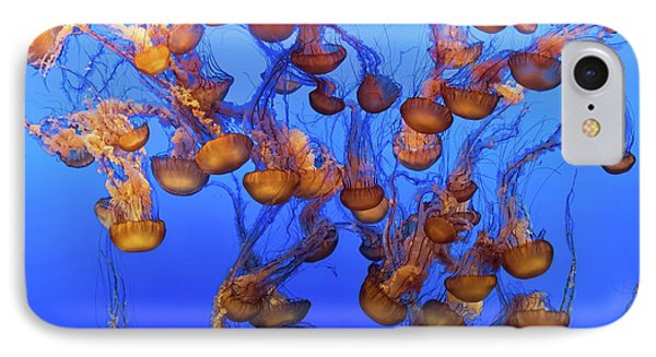 Pacific Ocean iPhone 7 Case - Swarm Of Jellyfish by Fred Walker