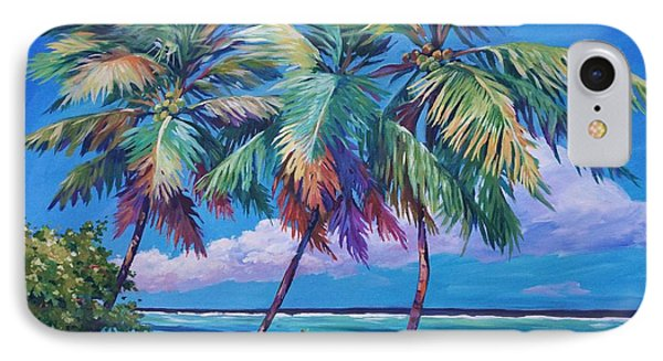 Swaying Palms  IPhone Case by John Clark