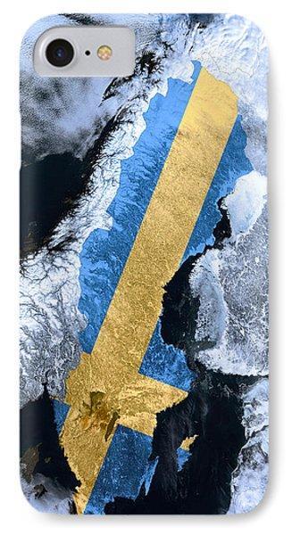Sweden Pride IPhone Case by Daniel Hagerman