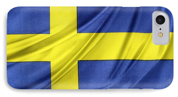 Swedish Flag IPhone Case by Les Cunliffe