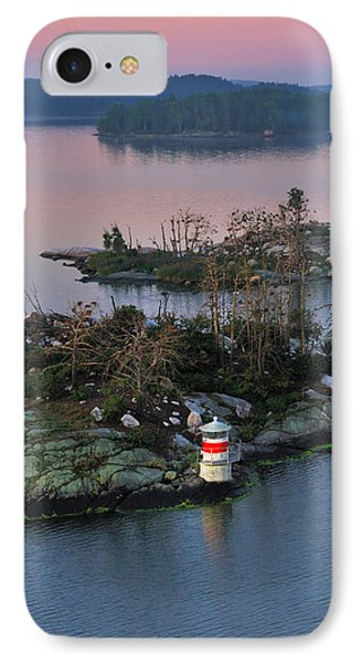 Swedish Lighthouse At Dawn IPhone Case by Marianne Campolongo