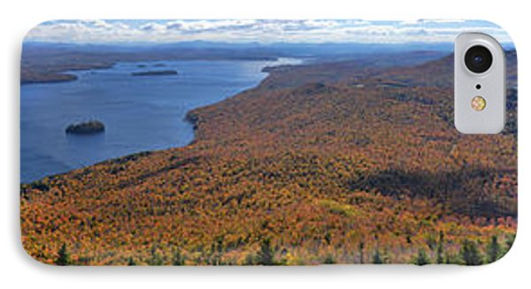 IPhone Case featuring the photograph Sweeping Fall Panorama Over Lake Memphremagog by Sebastien Coursol