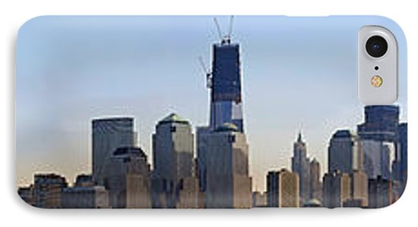 Sweeping Panorama Of New York City Before Sunset IPhone Case by Sebastien Coursol