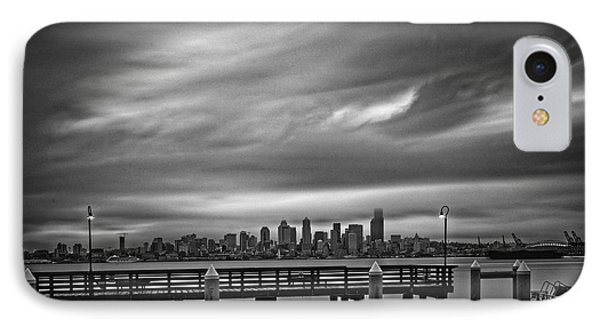 Sweeping Vista Of Downtown Seattle From Alki Beach - Seattle Washington IPhone Case