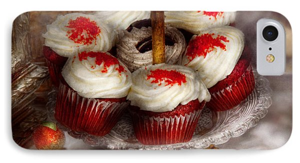 Sweet - Cupcake - Red Velvet Cupcakes  Phone Case by Mike Savad