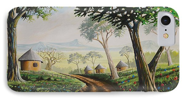 IPhone Case featuring the painting Sweet Home by Anthony Mwangi