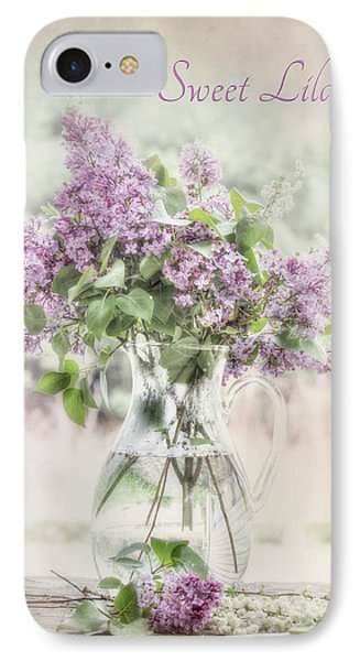 Sweet Lilacs Phone Case by Lori Deiter
