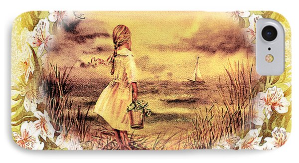 IPhone 7 Case featuring the painting Sweet Memories A Trip To The Shore by Irina Sztukowski