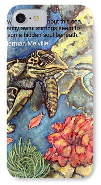 IPhone Case featuring the mixed media Sweet Mystery Of This Sea A Hawksbill Sea Turtle Coasting In The Coral Reefs 2 by Kimberlee Baxter