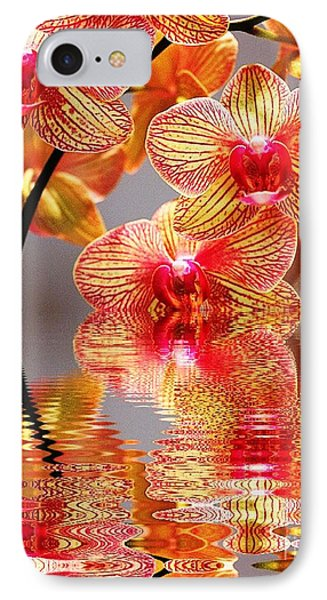 Sweet Orchid Reflection IPhone Case by Judy Palkimas