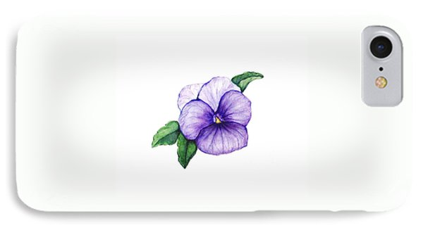 IPhone Case featuring the painting Sweet Pansy by Heidi Kriel