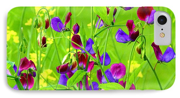IPhone Case featuring the photograph Sweet Peas by Byron Varvarigos