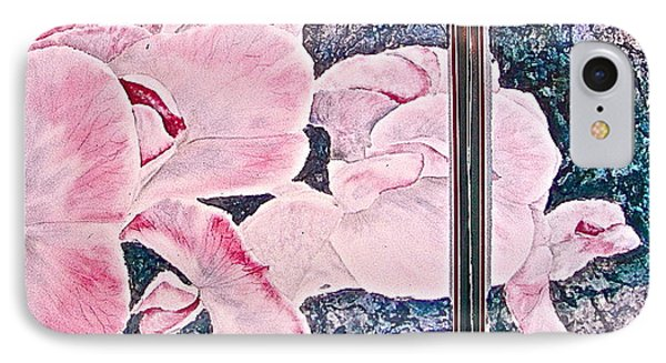 IPhone Case featuring the painting Sweet Peas by Carolyn Rosenberger