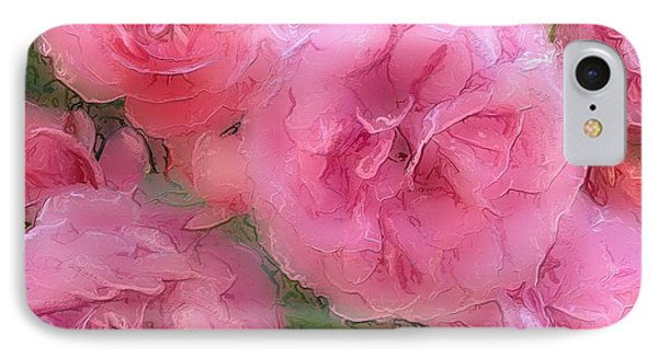 IPhone Case featuring the mixed media Sweet Pink Roses  by Gabriella Weninger - David