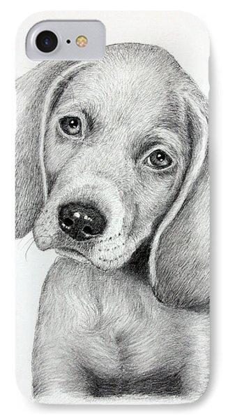 Sweet Puppy Love Phone Case by Lorraine Foster