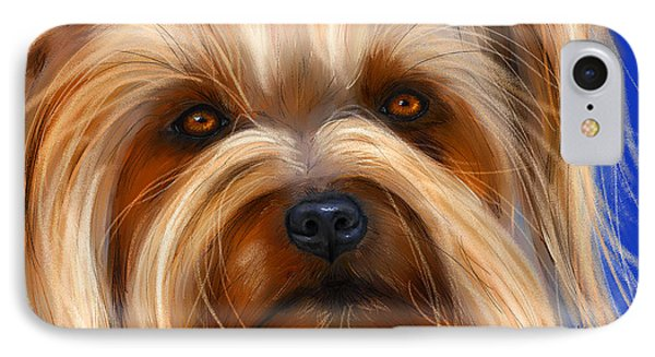 Sweet Silky Terrier Portrait IPhone Case by Michelle Wrighton