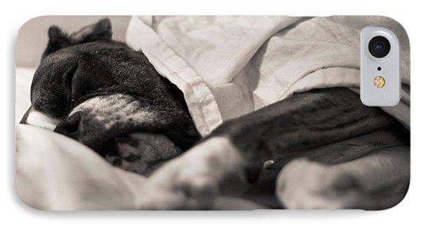 Sweet Sleeping Boxer Phone Case by Stephanie McDowell