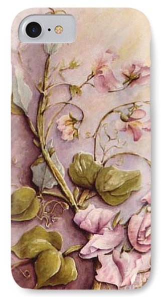 Sweet Sweet Pea IPhone Case by Marta Styk