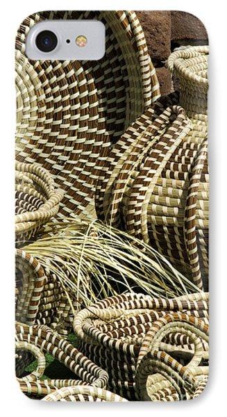 Sweetgrass Baskets - D002362 Phone Case by Daniel Dempster