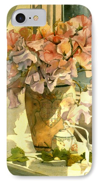Sweetpea On The Windowsill Phone Case by Julia Rowntree