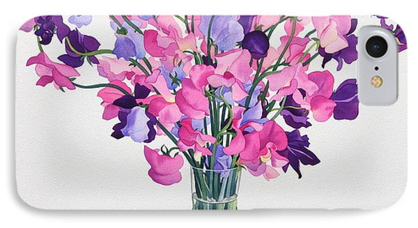 Sweetpeas IPhone Case by Christopher Ryland