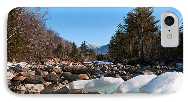 Swift River Ice Blocks IPhone Case by Sharon Seaward